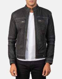 Youngster Distressed Black Leather Jacket 1