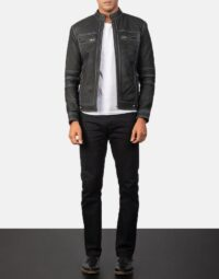 Youngster Distressed Black Leather Jacket 2