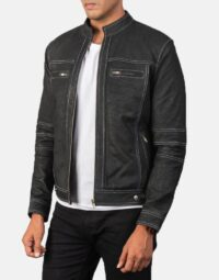 Youngster Distressed Black Leather Jacket 3
