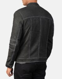 Youngster Distressed Black Leather Jacket 5