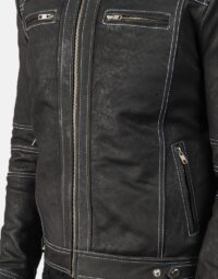Youngster Distressed Black Leather Jacket 6