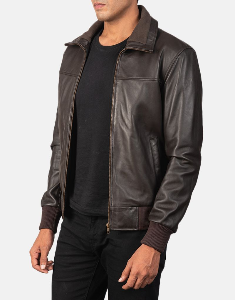 Air-Rolf-Brown-Leather-Bomber-Jacket-3