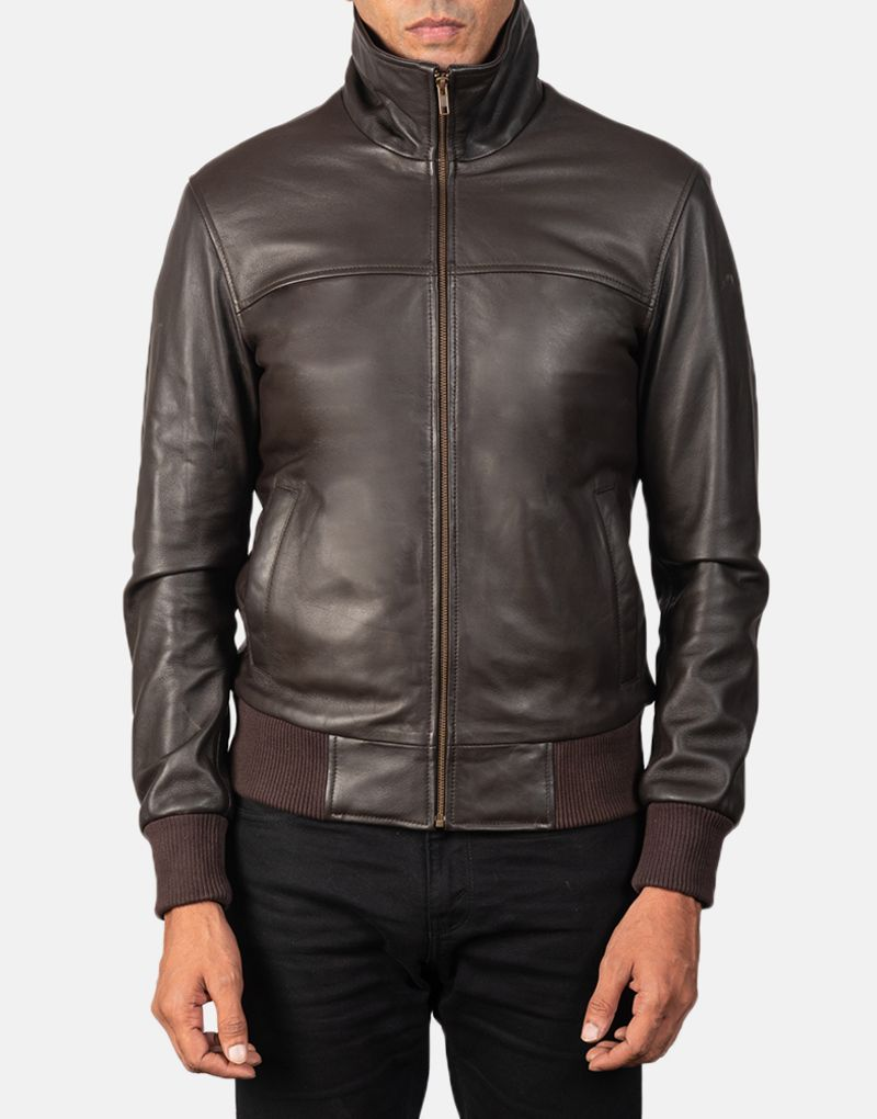Air-Rolf-Brown-Leather-Bomber-Jacket-4