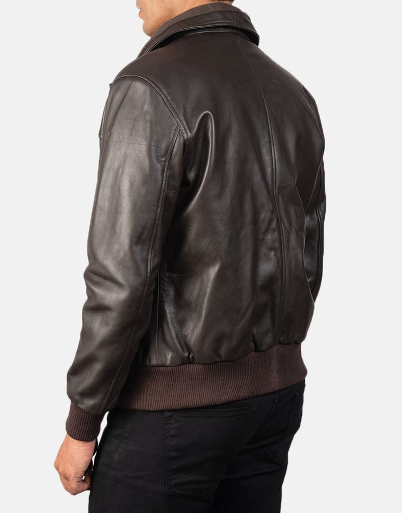 Air-Rolf-Brown-Leather-Bomber-Jacket-5