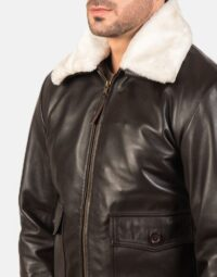 Airin G-1 Brown Leather Bomber Jacket 6