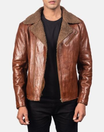Alberto-Shearling-Brown-Leather-Jacket-1