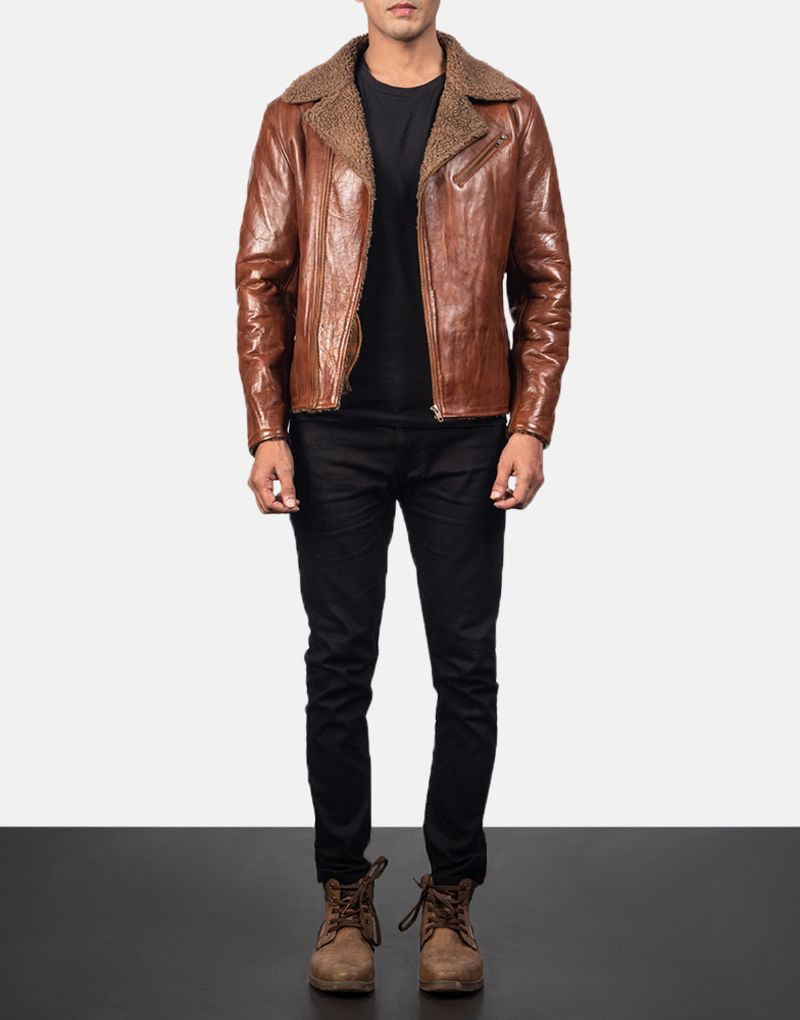 Alberto-Shearling-Brown-Leather-Jacket-2