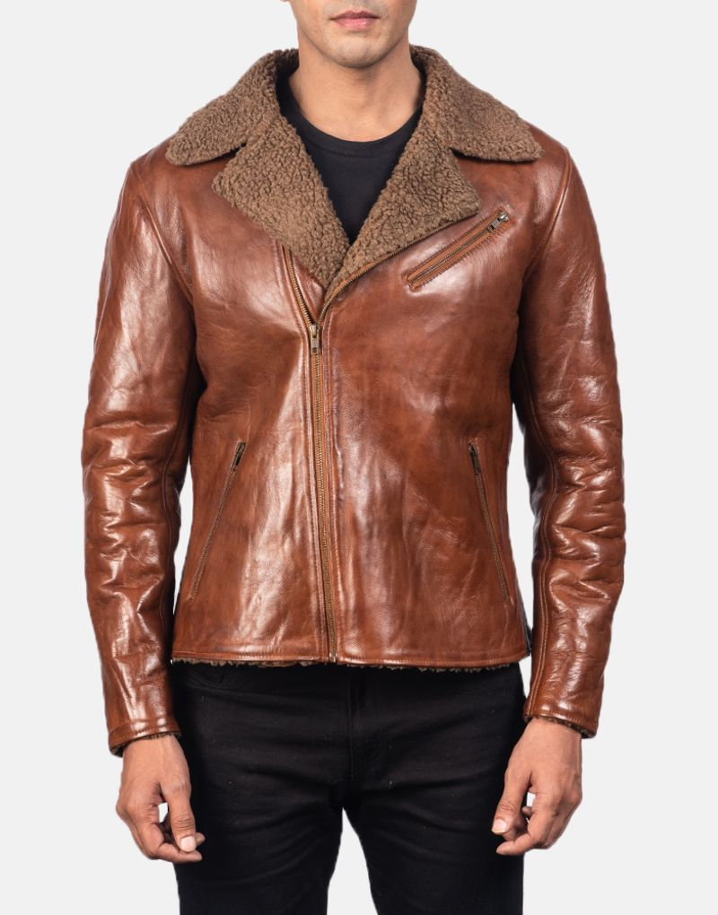 Alberto-Shearling-Brown-Leather-Jacket-4