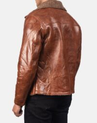 Alberto Shearling Brown Leather Jacket 5