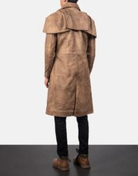 Classic Brown Leather Duster 3
