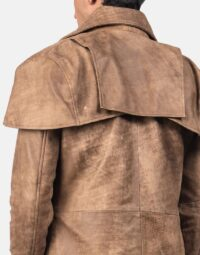 Classic Brown Leather Duster 5