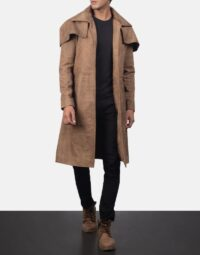 Classic Brown Leather Duster 6