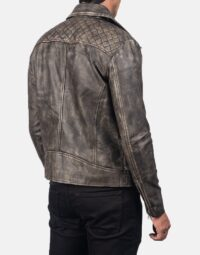 Danny Quilted Brown Leather Biker Jacket 6