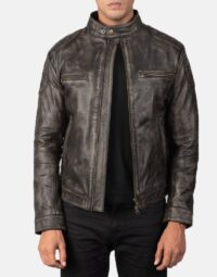 Gatsby Distressed Brown Leather Jacket 1