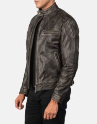 Gatsby Distressed Brown Leather Jacket 3
