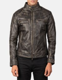 Gatsby Distressed Brown Leather Jacket 4