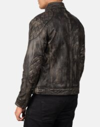 Gatsby Distressed Brown Leather Jacket 5