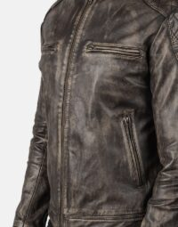 Gatsby Distressed Brown Leather Jacket 6