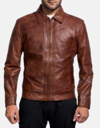 Inferno Brown Leather Jacket-1