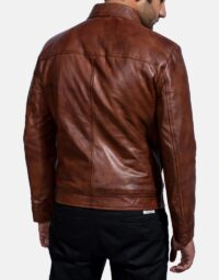 Inferno Brown Leather Jacket-5