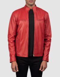 Ionic-Red-Leather-Biker-Jacket-for-men-1