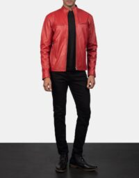Ionic-Red-Leather-Biker-Jacket-for-men-2