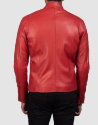 Ionic-Red-Leather-Biker-Jacket-for-men-5