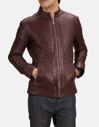 Maroon-Studded-Quilt-Jacket-Zoom-2