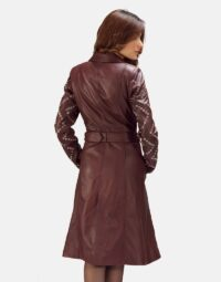 Maroon-Studded-Trench-Coat-Zoom-3