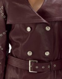 Maroon-Studded-Trench-Coat-Zoom-4