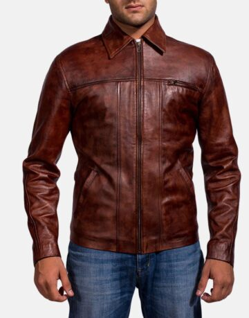 Mens-Abstract-Maroon-Leather-Jacket-1