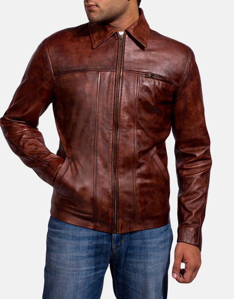 Mens-Abstract-Maroon-Leather-Jacket-2