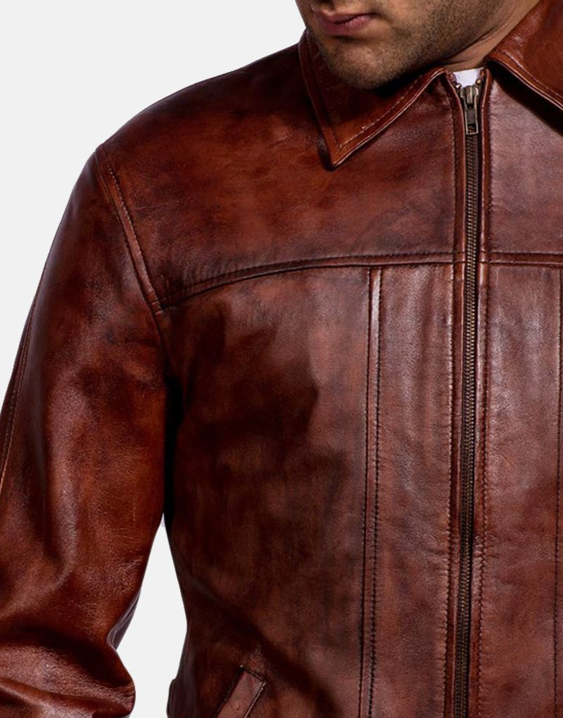 Mens-Abstract-Maroon-Leather-Jacket-3