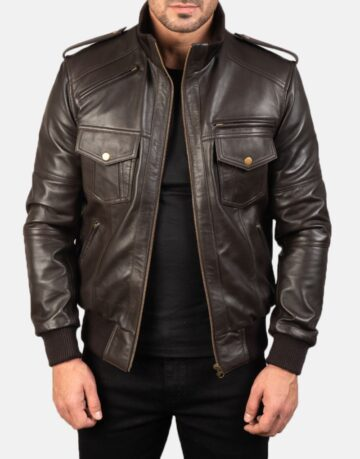 Mens-Agent-Shadow-Brown-Leather-Bomber-Jacket-1