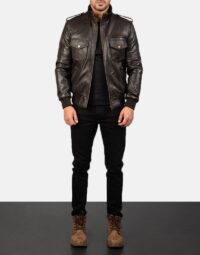 Mens-Agent-Shadow-Brown-Leather-Bomber-Jacket-2