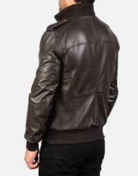 Mens-Agent-Shadow-Brown-Leather-Bomber-Jacket8-5