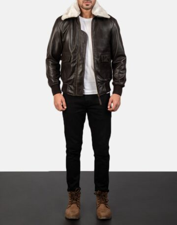 Mens-Airin-G-1-Brown-Leather-Bomber-Jacket-2