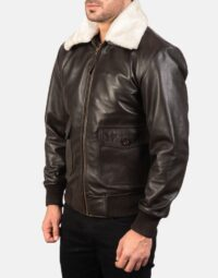 Mens-Airin-G-1-Brown-Leather-Bomber-Jacket-3