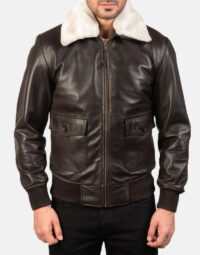 Mens-Airin-G-1-Brown-Leather-Bomber-Jacket-4