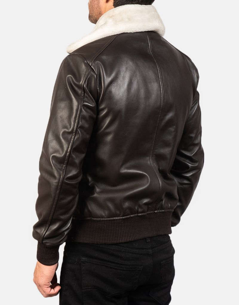 Mens-Airin-G-1-Brown-Leather-Bomber-Jacket-5