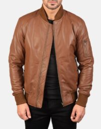 Mens-Bomia-Ma-1-Brown-Leather-Bomber-Jacket-1