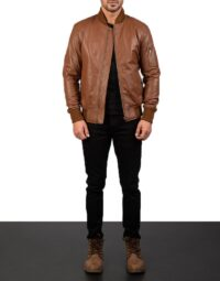Mens-Bomia-Ma-1-Brown-Leather-Bomber-Jacket-2