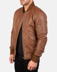 Mens-Bomia-Ma-1-Brown-Leather-Bomber-Jacket-3