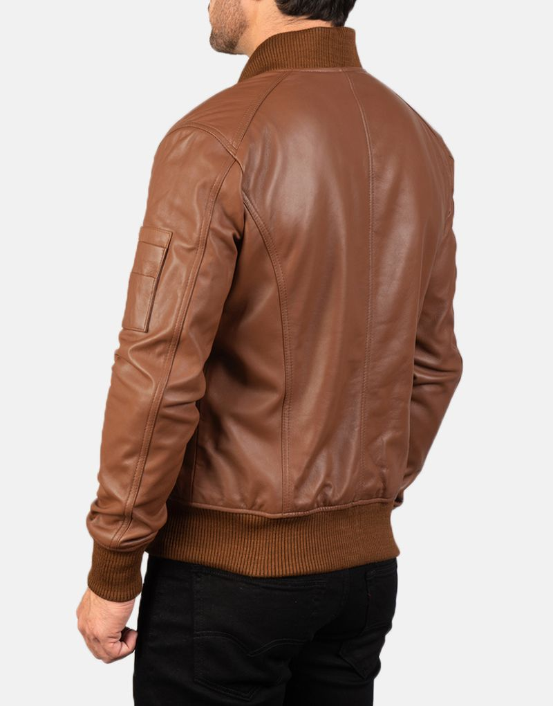 Mens-Bomia-Ma-1-Brown-Leather-Bomber-Jacket