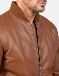 Mens-Bomia-Ma-1-Brown-Leather-Bomber-Jacket-6