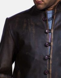 Mens Drakeshire Brown Leather Jacket 3