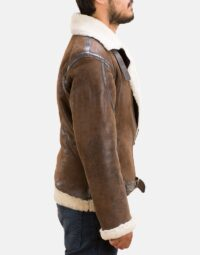 Mens Forest Double Face Shearling Jacket 2