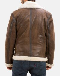 Mens Forest Double Face Shearling Jacket 4