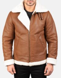Mens-Francis-B-3-Brown-Leather-Bomber-Jacket-1