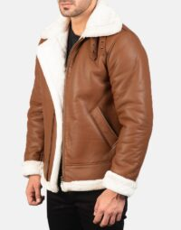 Mens-Francis-B-3-Brown-Leather-Bomber-Jacket-3